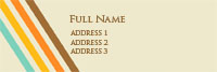 Retro Beige Lined Address Label Template